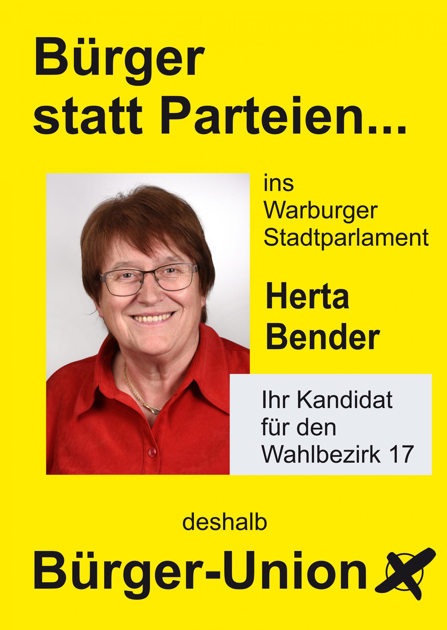 Herta Bender für Warburg Wahlbezirk 17