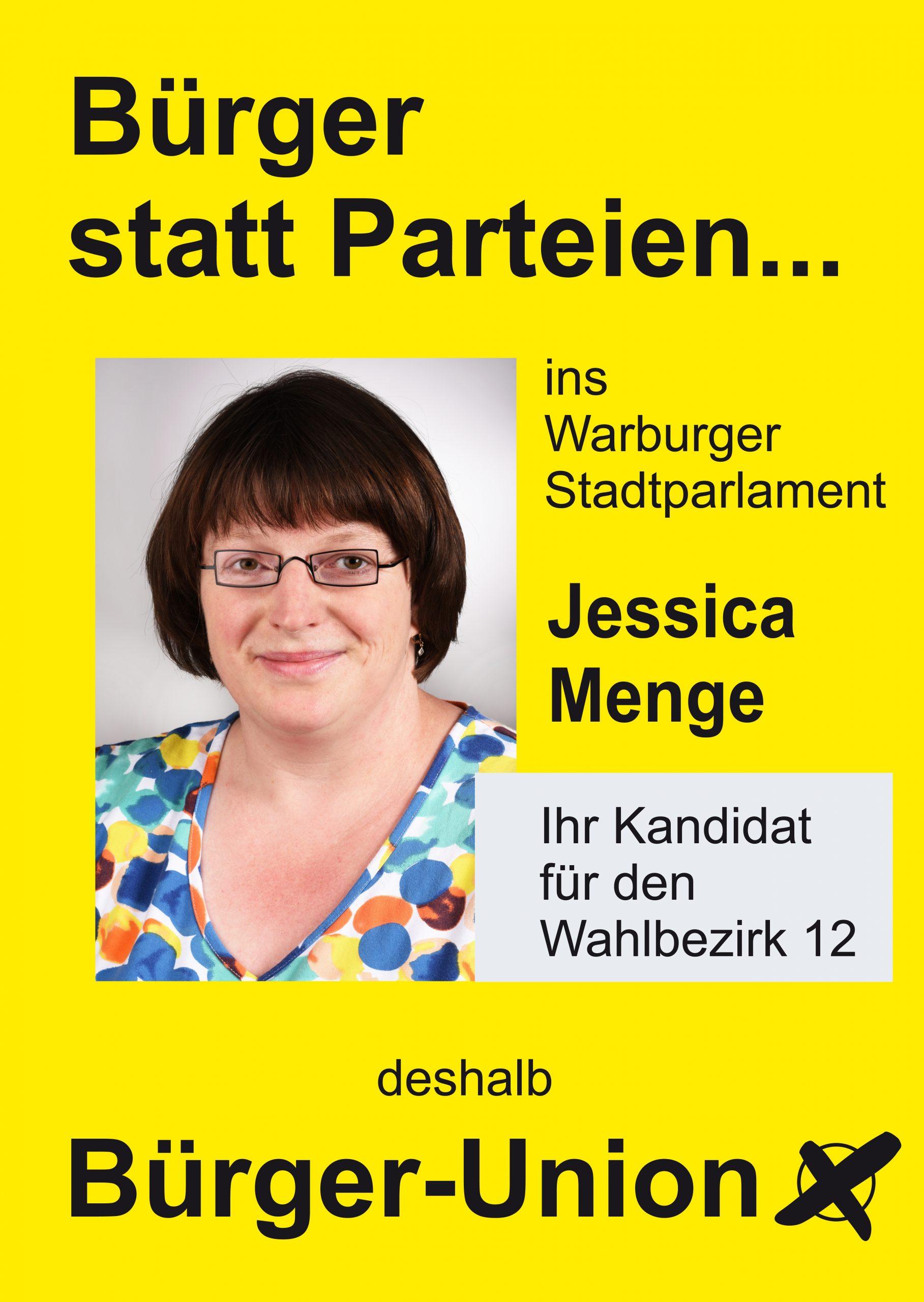 Jessica Menge für Warburg Wahlbezirk 12