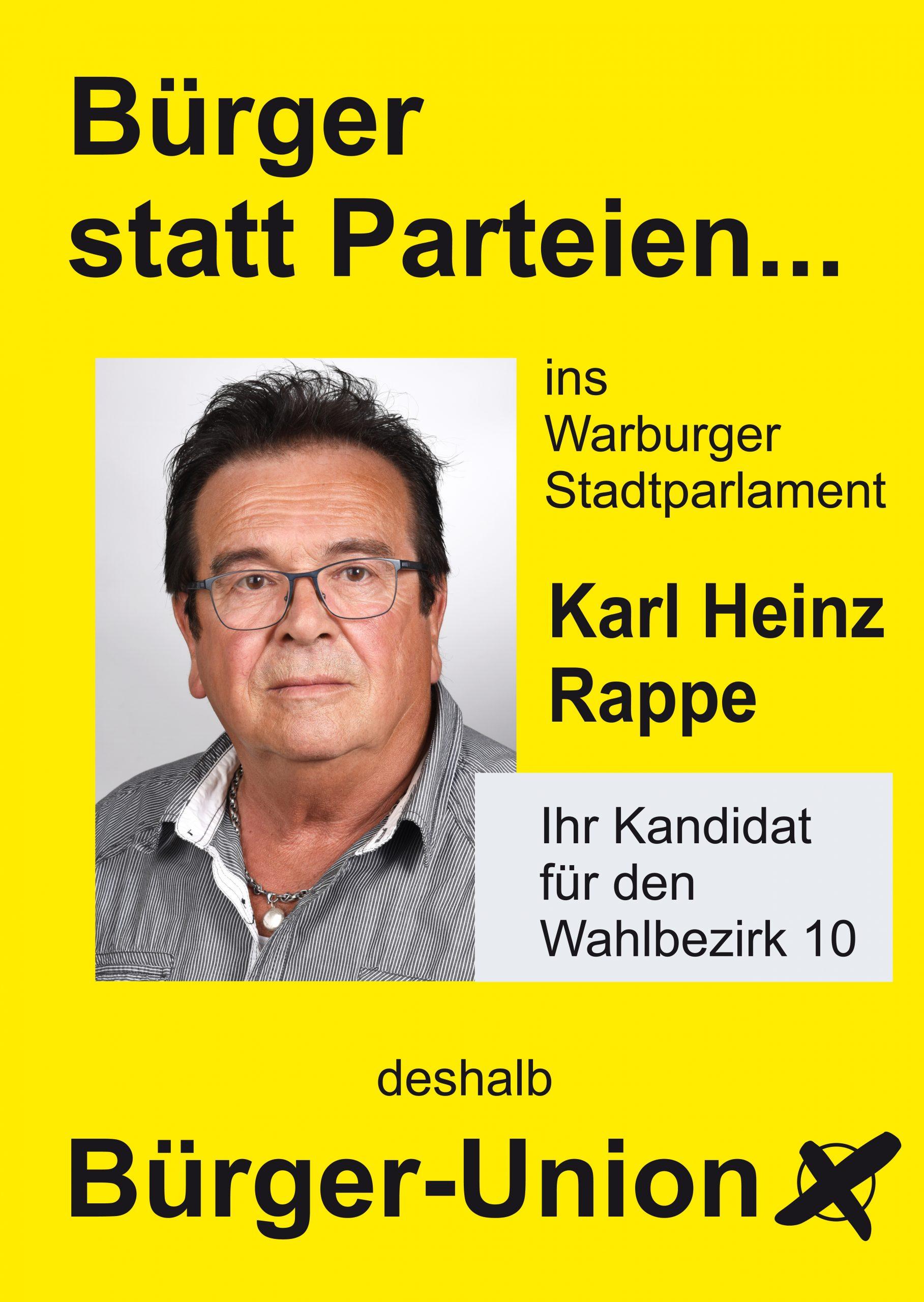 Karl-Heinz Rappe für Warburg Wahlbezirk 10