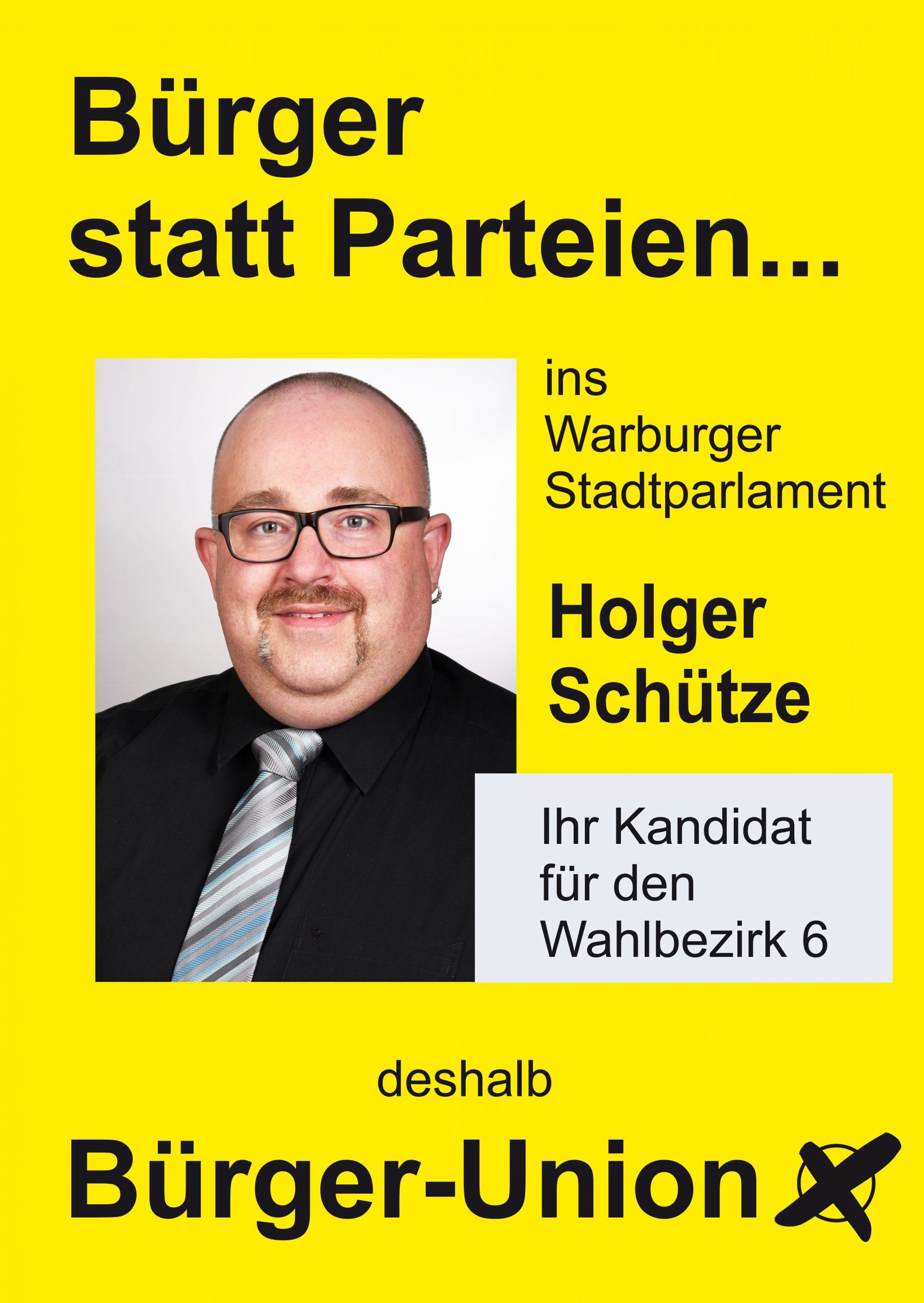 Warburg Wahlen Wahlbezirk 6 Holger Schütze