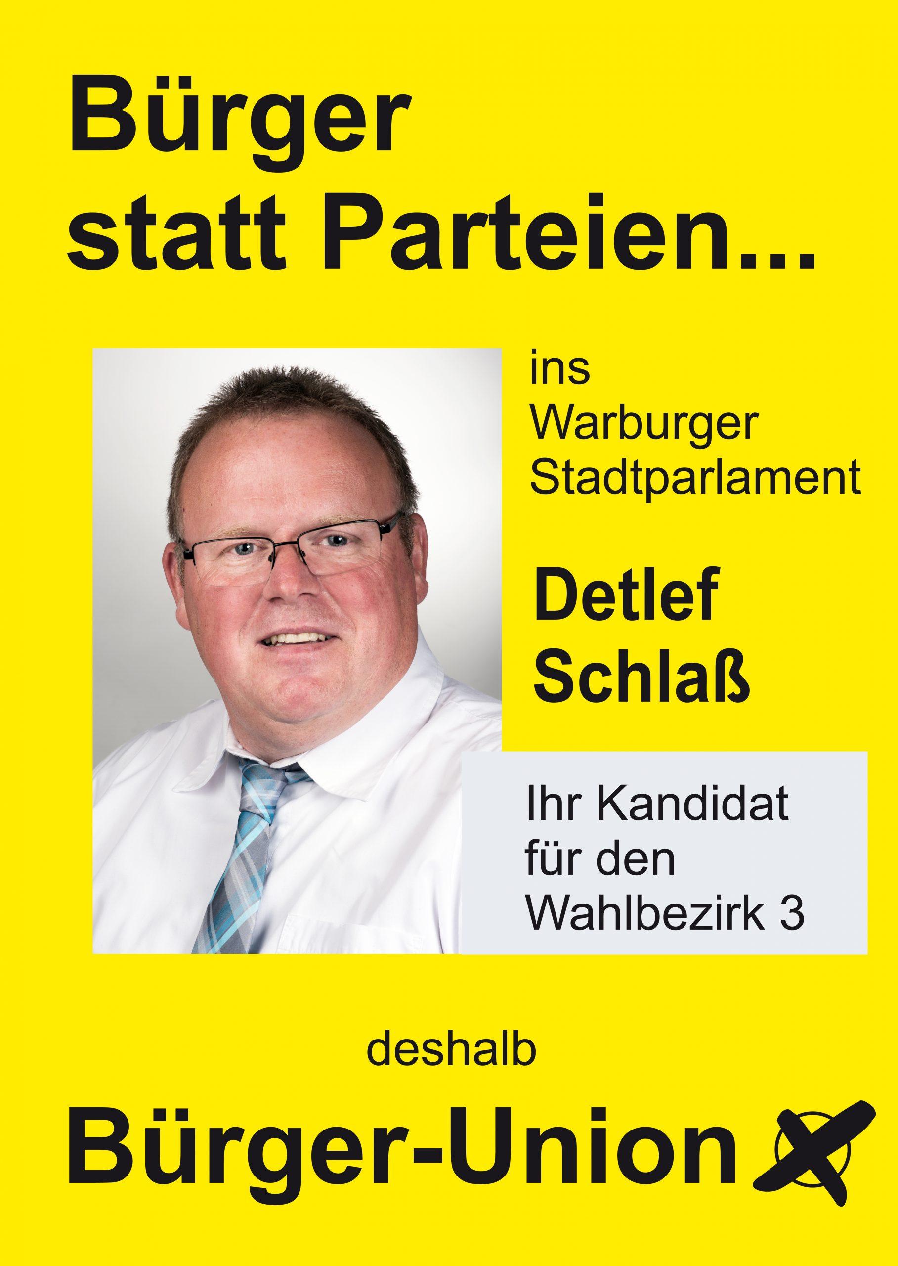 Warburg Wahlen: Wahlbezirk 3 Detlef Schlaß