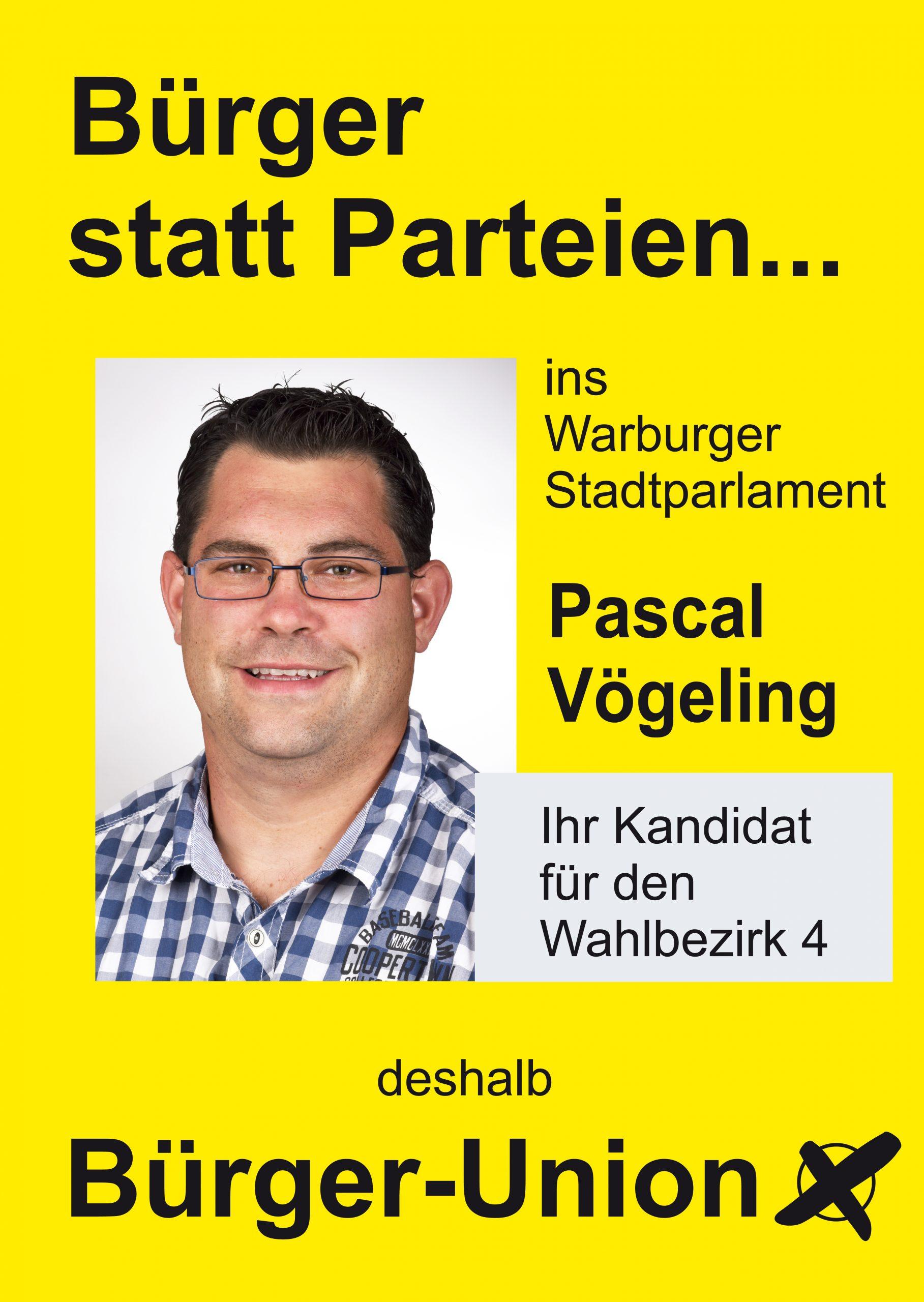 Warburg Wahlen Wahlbezirk 4 Pascal Vögeling