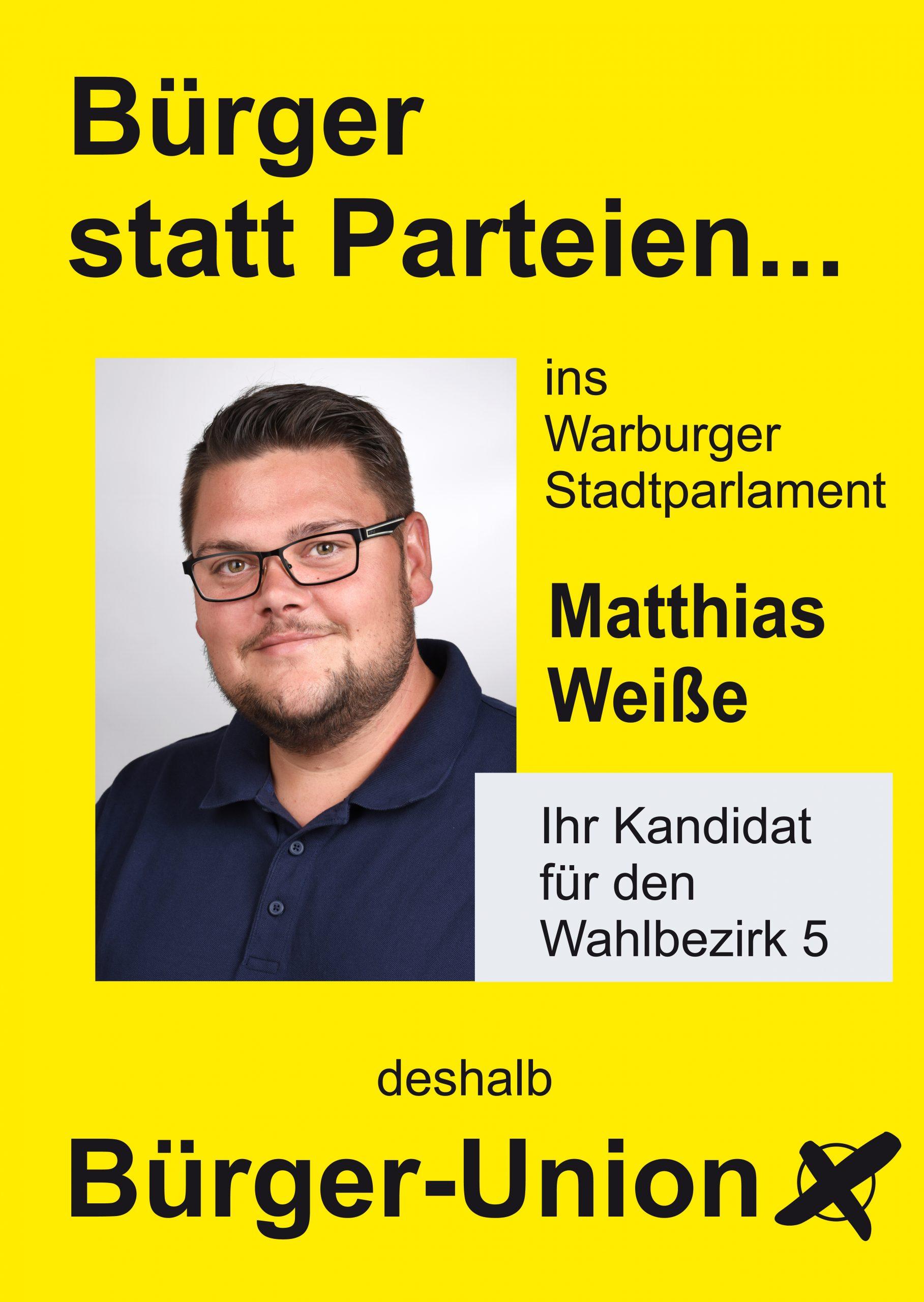 Warburg Wahlen: Wahlbezirk 5 Matthias Weiße