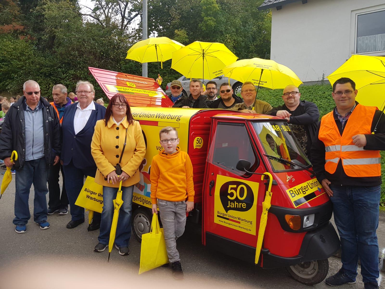 Teilnahme am Oktoberwochenumzug anlässlich des 50 jährigen bestehens der Bürger Union Warburg