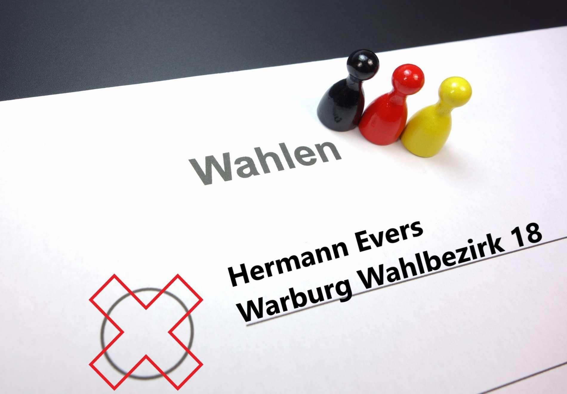 Kommunalwahlen / Gemeinderatswahlen in Warburg: Hermann Evers tritt im Wahlbezirk 18 an