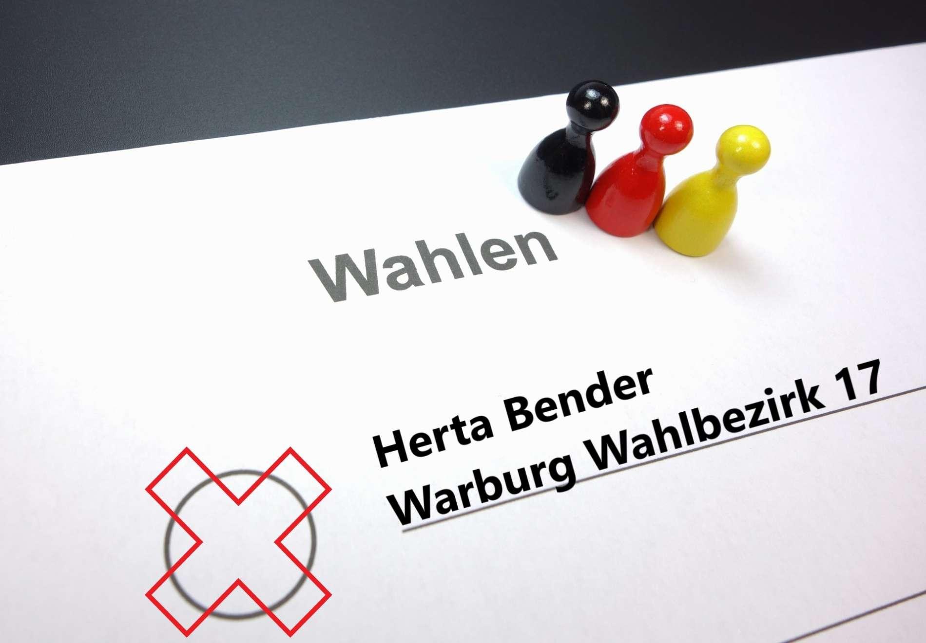 Kommunalwahlen / Gemeinderatswahlen in Warburg: Herta Bender tritt im Wahlbezirk 17 an