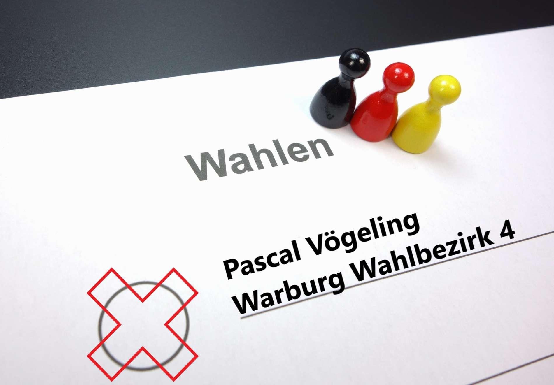 Kommunalwahlen / Gemeinderatswahlen in Warburg: Pascal Vögeling tritt im Wahlbezirk 4 an