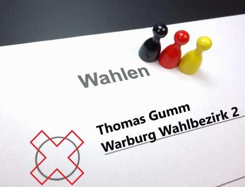 Thomas Gumm für Warburg Wahlbezirk 2