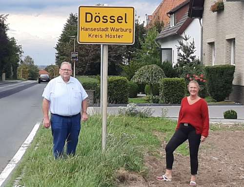 Tatjana Lütkemeyer zu Besuch in Menne / Dössel