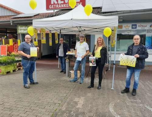 Wahlkampftermin in Scherfede/Rimbeck