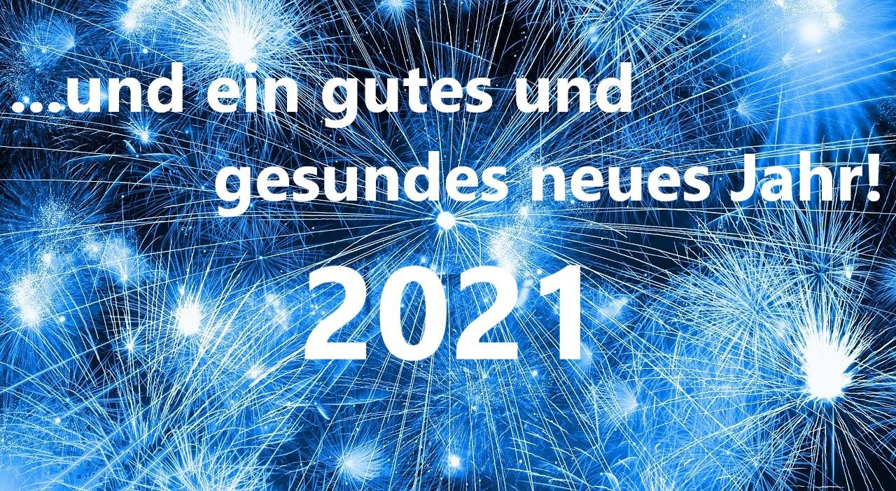 gesundes neues Jahr 2021
